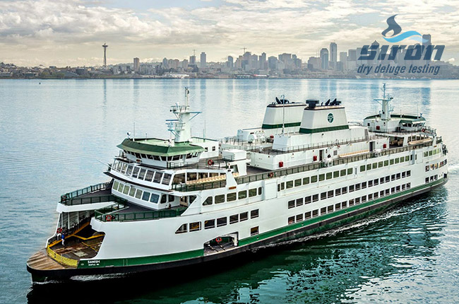 siron dry deluge testing applications ferries roro highlight